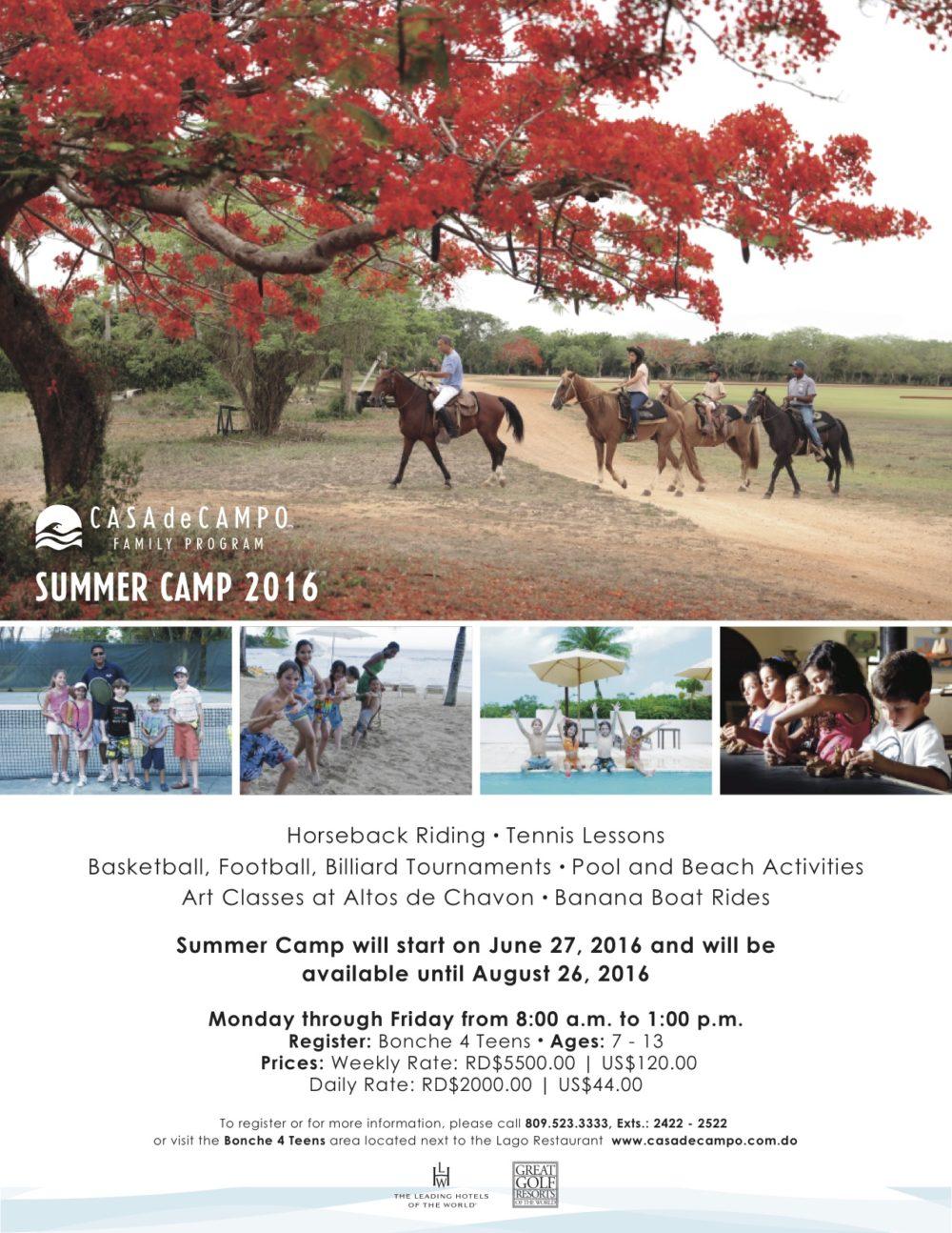 Casa de Campo Summer Family Program