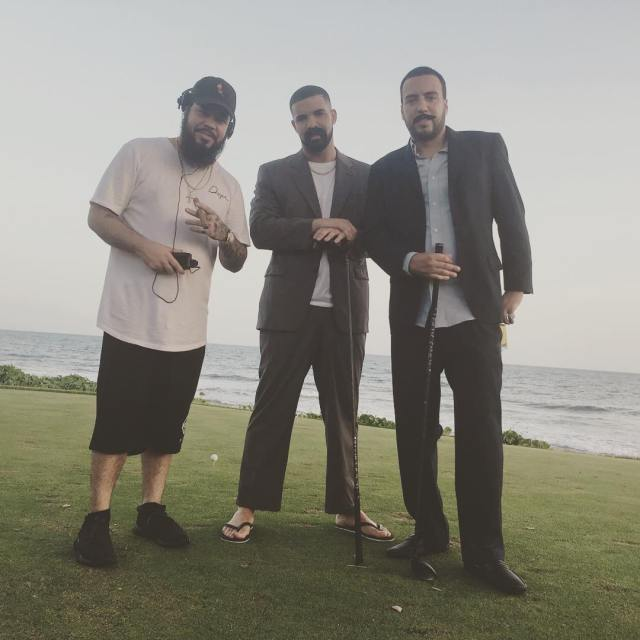 Carlos Suarez, Drake and French Montana on the Teeth of the Dog
