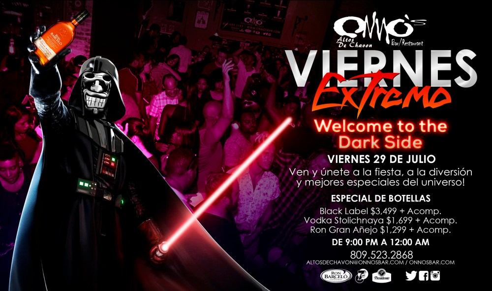 Dark Side Friday at Onno's Bar