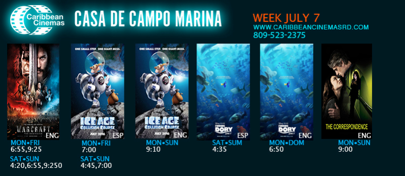 Marina Casa de Campo Cartelera 7 de Julio 2016