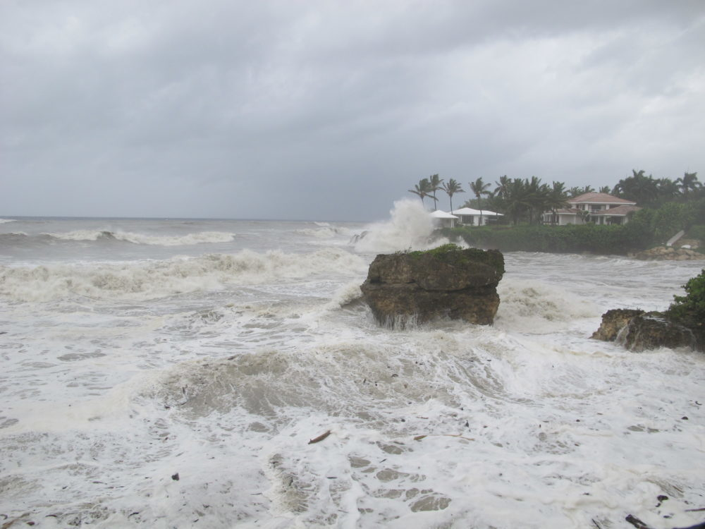 Past footage of Tropical Storm Isaac, 2012.