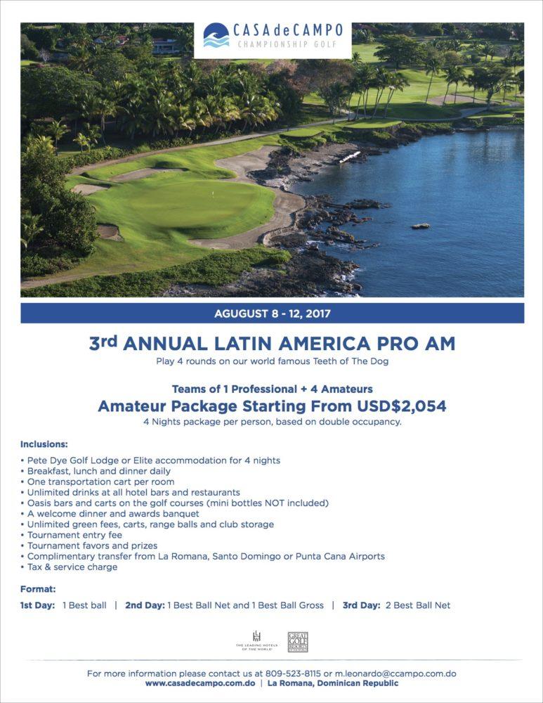 3rd Annual Latin America Pro-Am