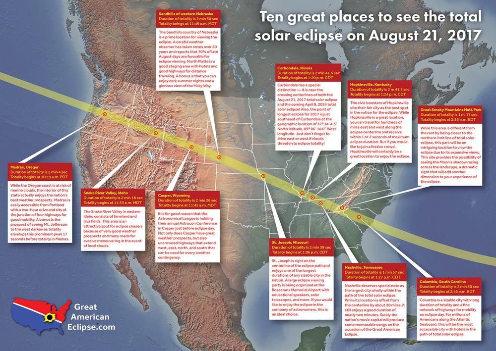 USA Eclipse map