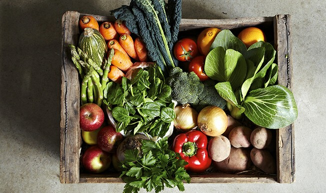 organic fruit and vegetables plant-based