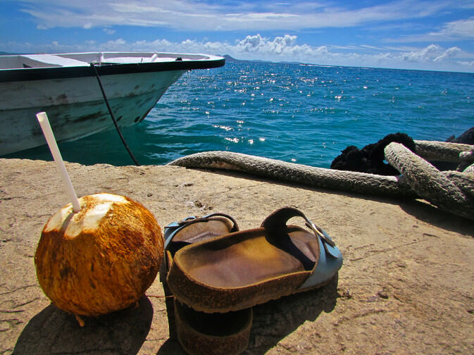 Yep, it's a hard life as a Travel Blogger. Photo credit: coffeewithasliceoflife.com