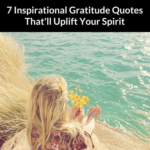 7 Inspirational Gratitude Quotes That'll Uplift Your Spirit