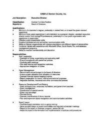 Executive Director Job Description   Executive Director Job Description Casa Of Denton County