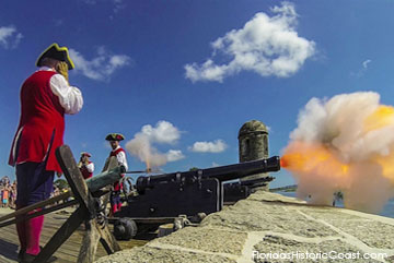 Demonstration of Cannon Firing at the Fort