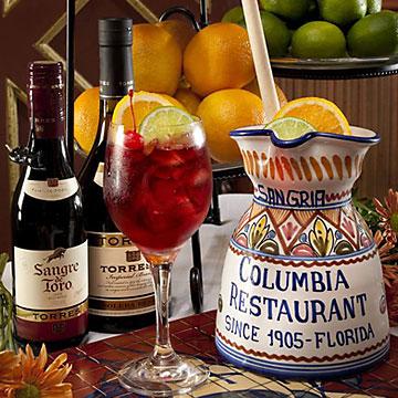 signature beverages at Columbia restaurant