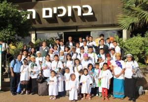 Primeiras fotos da Aliá de Novembro de mais um grupo Bnei Menashe