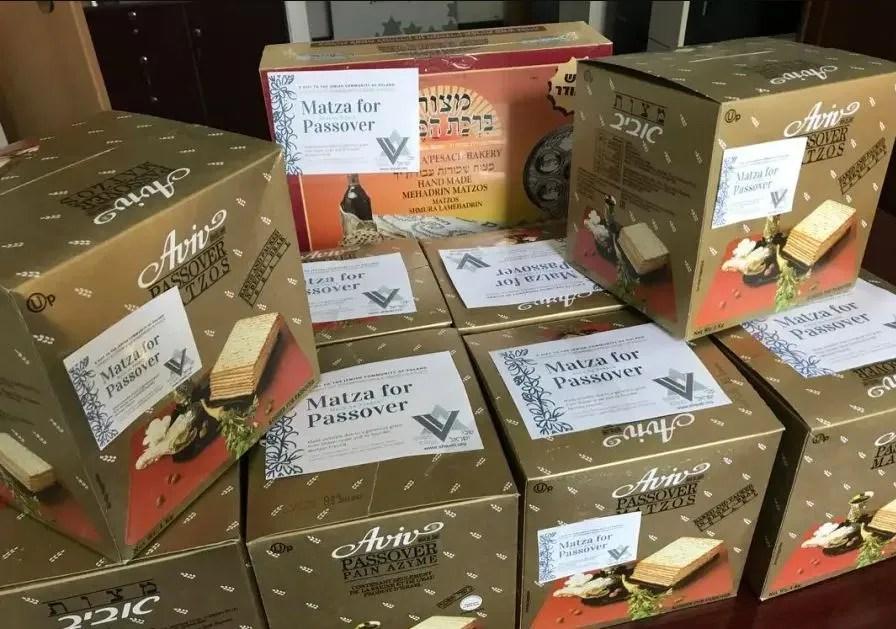 Duas toneladas de matzá enviadas de Israel para a Comunidade Judaica da Polónia