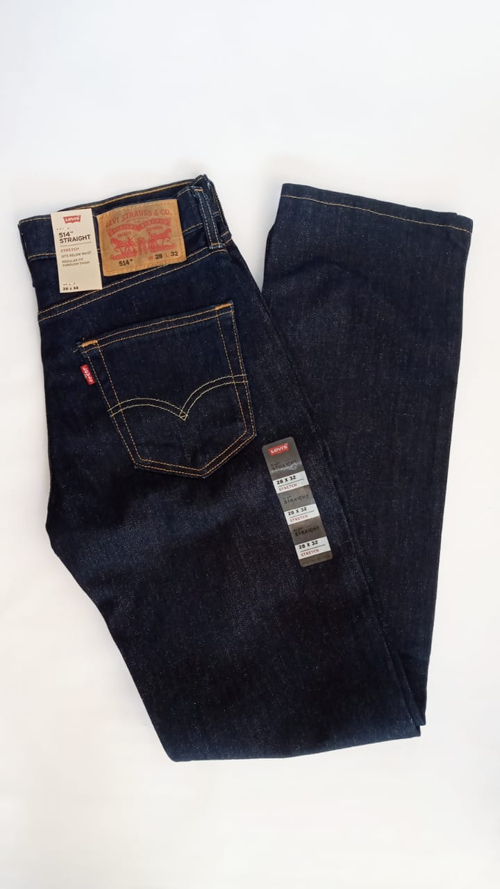 Pantalon De Mezclilla Levi S 514 Straigth Stretch Azul Obscuro Casa Edith Tu Boutique Familiar