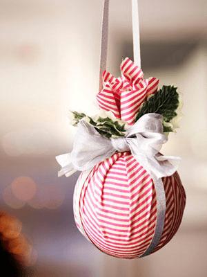 Bola de natal com retalho . (Foto: Divulgação)