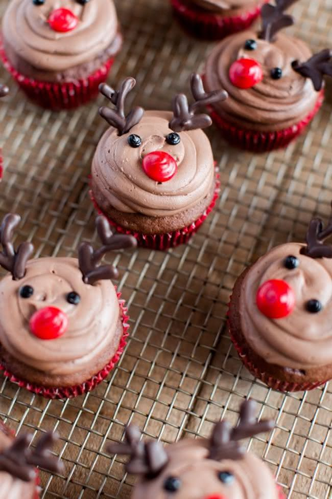 Cupcakes de rena