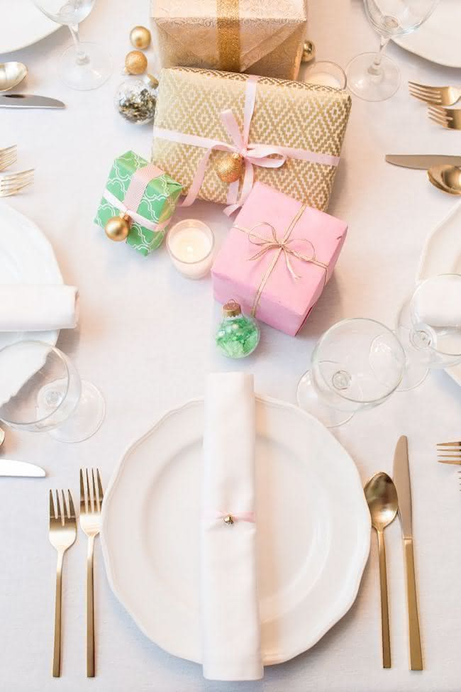 Presentes no centro da mesa