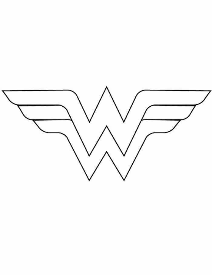 Simple Wonder Woman Silhouette