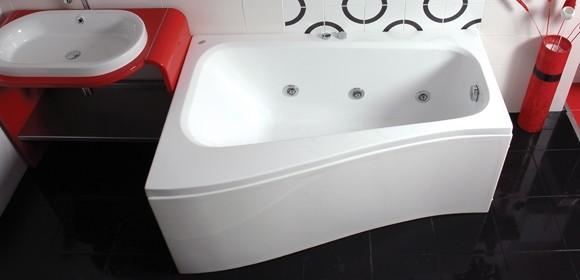 Cada baie asimetrica Belform Senso 150x100x70cm acril orientare stanga