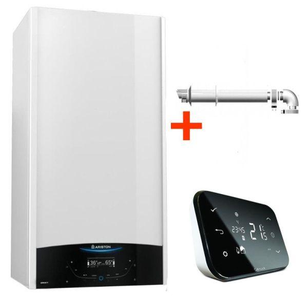Pachet control inteligent de la distanta Centrala termica in condensare Ariston Genus One 24 EU 24 kW + termostat cu control prin internet Salus IT500