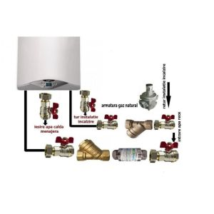 Pachet de baza Centrala termica in condensare Ariston Cares Premium 30 EU + pachet instalare centrala termica