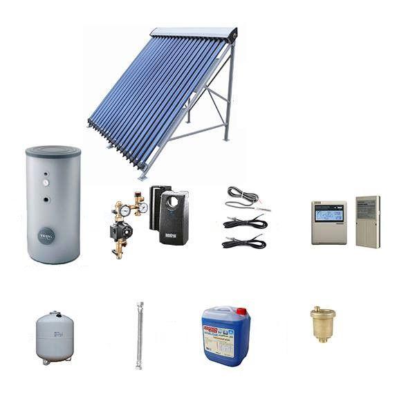 Pachet panou solar cu tuburi vidate si boiler 200 litri