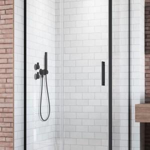 Perete lateral Radaway Idea Black S1 100 R dreapta 100cm profil negru