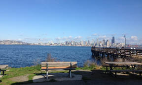 View from Marination Ma Kai's patio in West Seattle