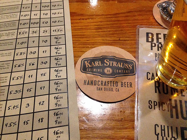 Karl Strauss Brewing in Little Italy was the first stop.