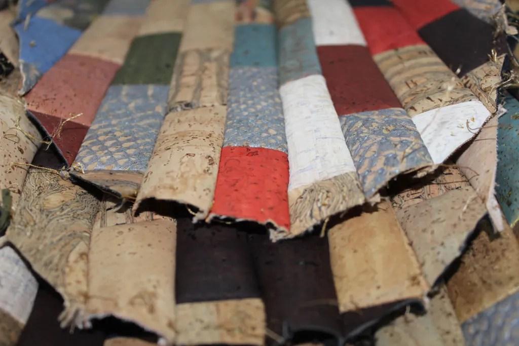 Tissus patchwork liege couleur rouge naturel artisanat couture création