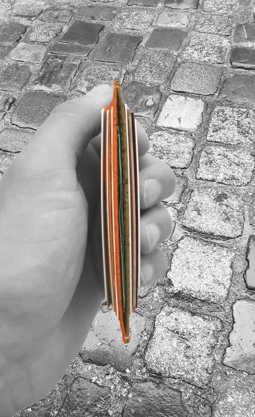 Porte-carte en liège bi-colore