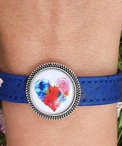 Bracelet en liège Artisanal coeur