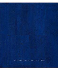 Coupon tissu de liège Naturel Bleu Couture DIY