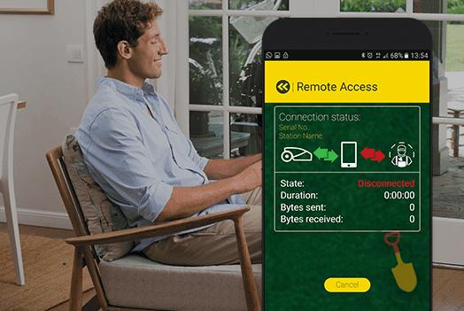 Assistenza remota tramite smartphone con il tosaerba Robot-Tino di Casali Irrigazione
