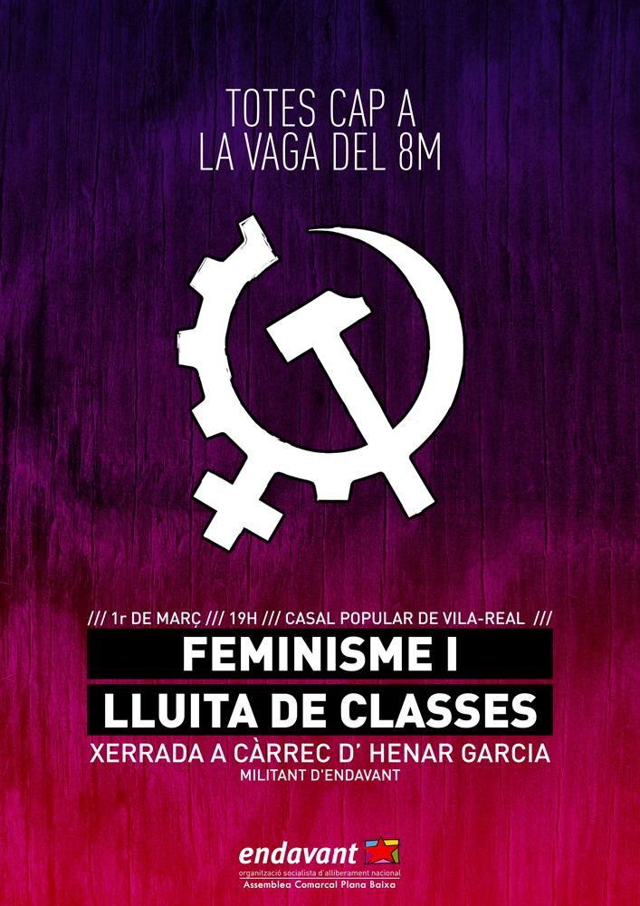 cartell xerrada feminisme i lluita de classes