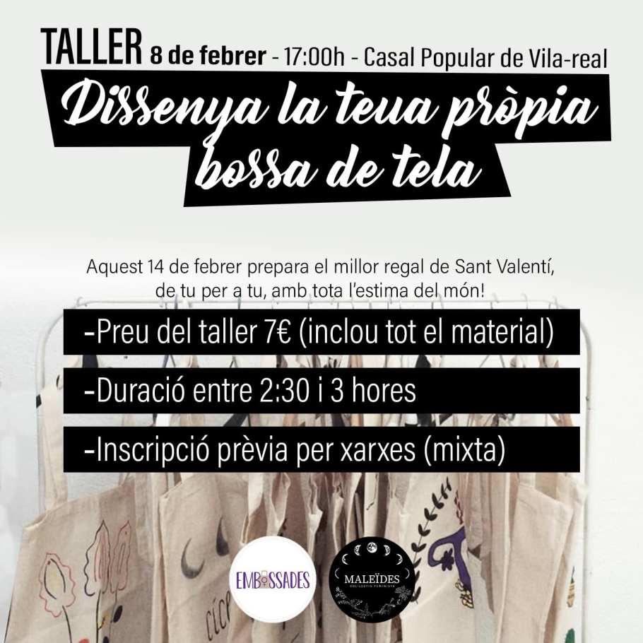 CARTELL TALLER DE CREACIÓ DE BOSSES