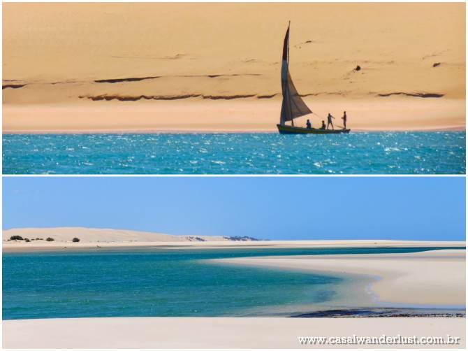 Pescadores locais e mais praias azuis