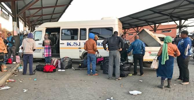 TaxiRank em Boemfontein