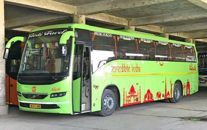 Como ir de New Delhi para Dharamshala - Um dos ônibus que fazem o trajeto