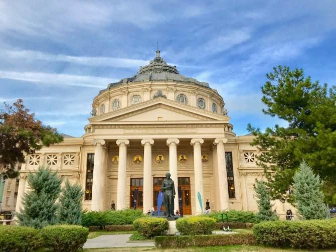 O que fazer em Bucareste ateneu romeno