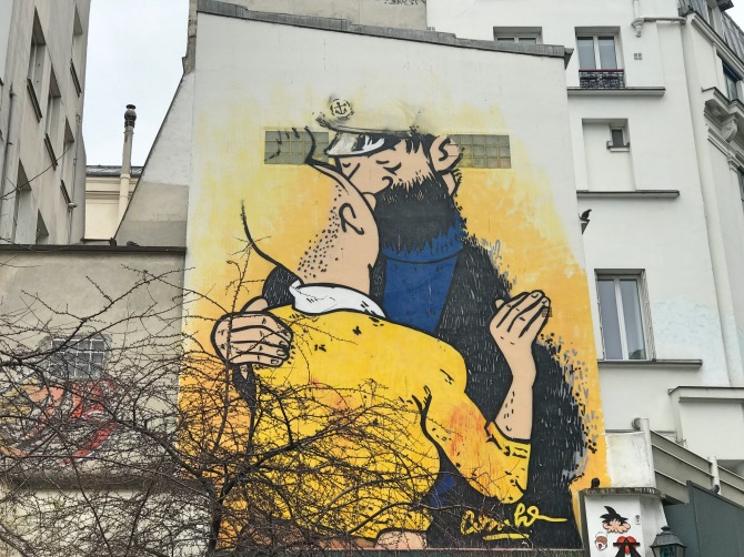 principais atrações de paris arte de rua tintin