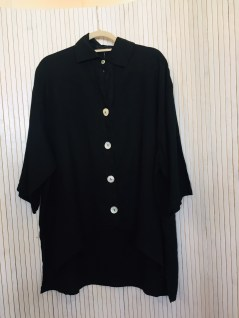 Black Linen Big Button Shirt £120 Black