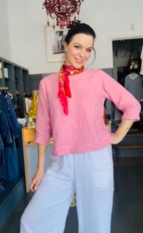 Three quarter sleeve blouse Pink £95