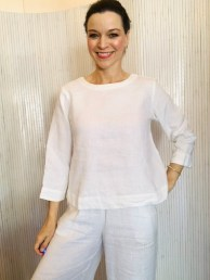 Three quarter sleeve blouse White £95