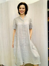 Linen dress in soft grey £159