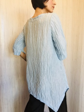 Tunic Top Sky Blue 60% linen 40% silk £159