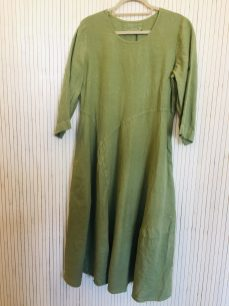 Dress Washed linen (in Sky Blue & Green) £159