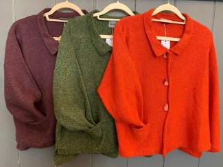 Aretha Jacket £179 in Plum, Green & Orange