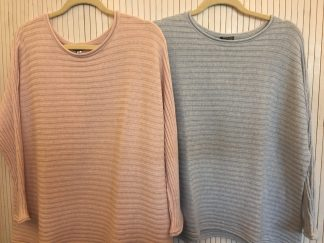 Lark Cotton sweater in Long or Short. £89 each. One Size