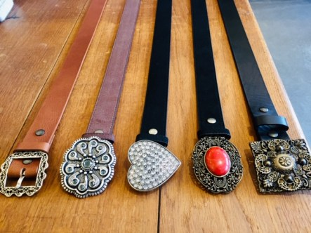 You can mix & match belt & buckle or buy the buckle seperately!