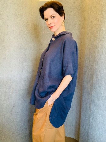 5 button Oversized Cotton Shirt £69 One Size
