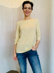 Amberley Top Cornish StripeCotton Stripe Lime £36